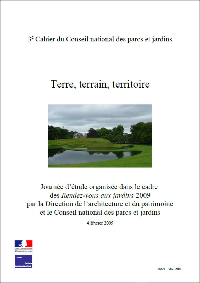 Actes RdvJardins 2009 - Terre, terrain, territoire