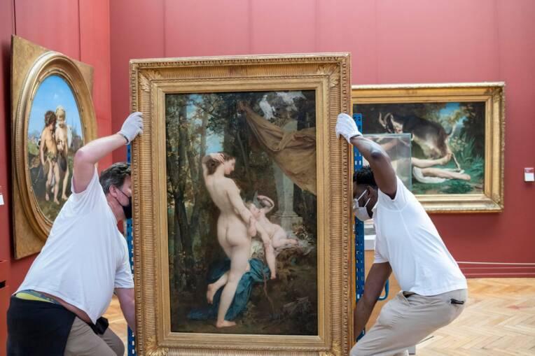 Bordeaux, musée des beaux-arts, déplacement d'une oeuvre / Cliché mis à disposition par le musée