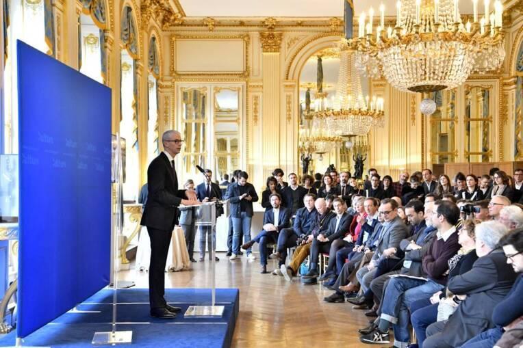 Discours de Franck Riester, ministre de la Culture, prononcé à l'occasion de la conférence de presse BD2020