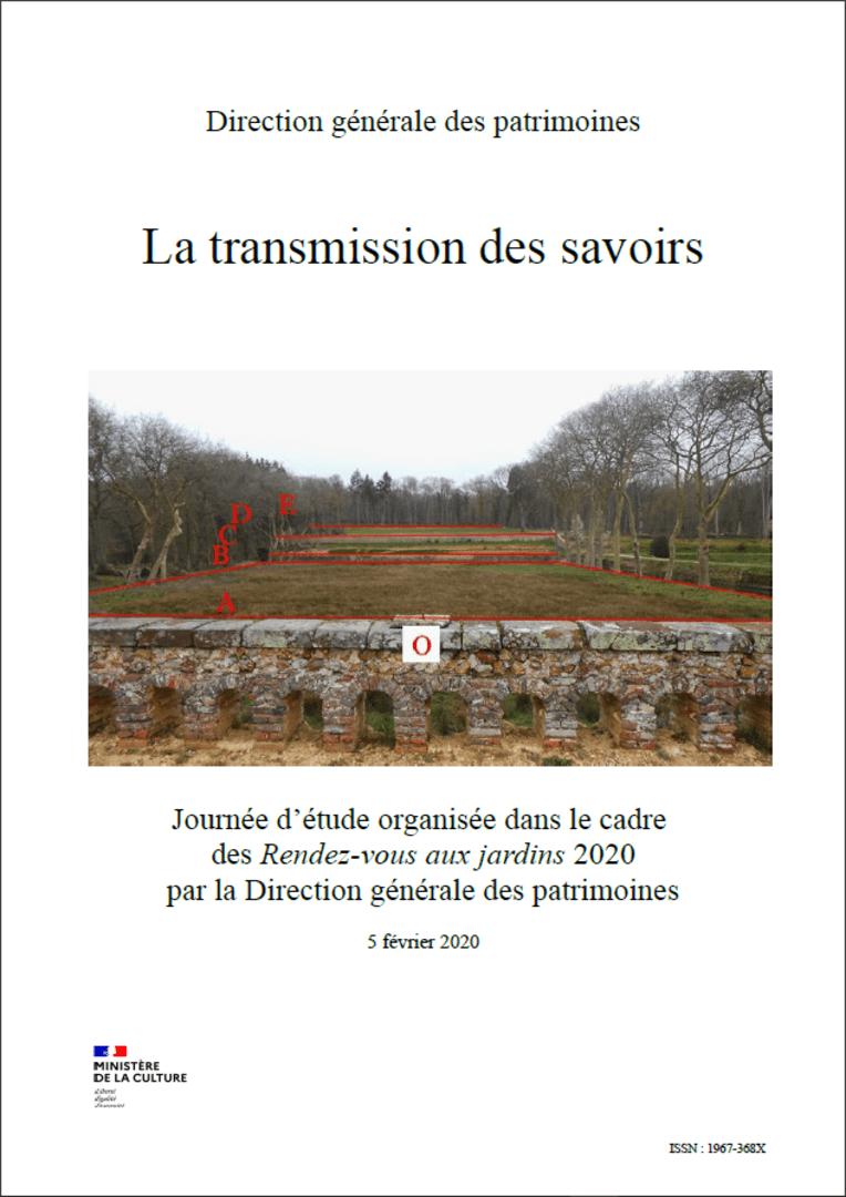 Actes RdvJardins 2020 - La transmission des savoirs