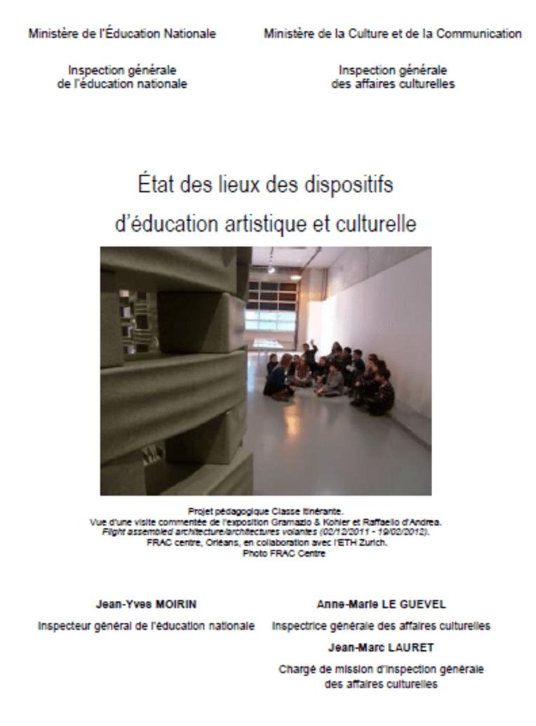 État des lieux des dispositifs d'éducation artistique et culturelle