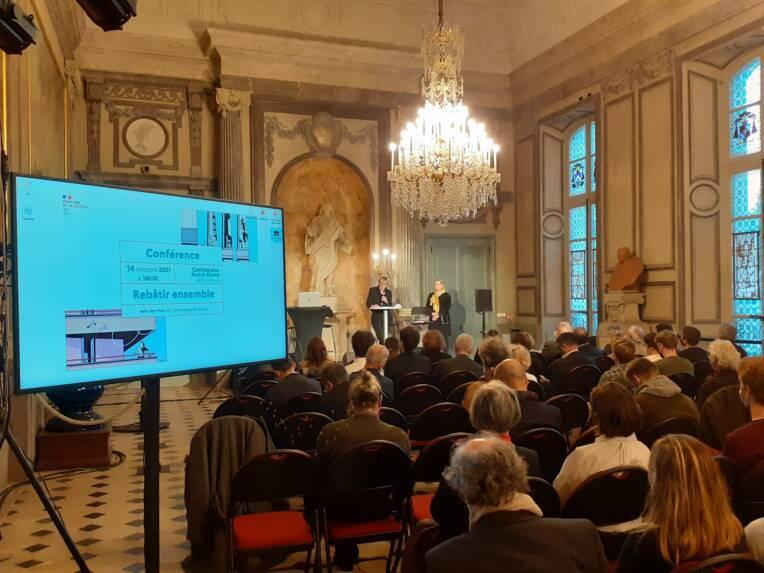 Conférence Rebâtir Ensemble les cathédrales de Paris et de Rouen