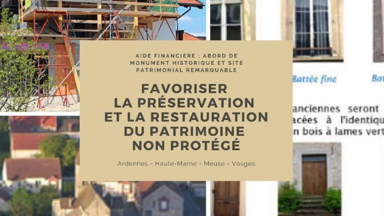 Demande de subvention pour un immeuble non protégé situé en espaces protégés