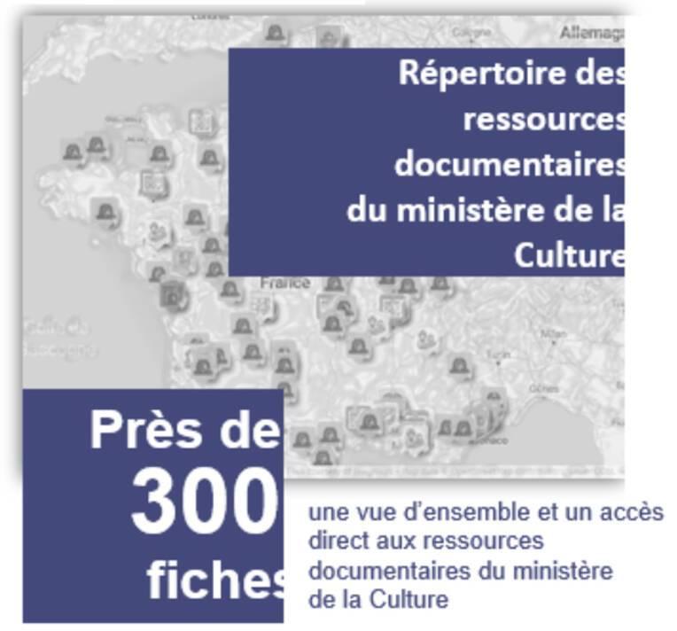 Répertoire des ressources documentaires du ministère de la Culture  : une vue d'ensemble et un accès direct aux ressources documentaires du ministè...