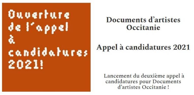 Documents d'artistes Occitanie 2021