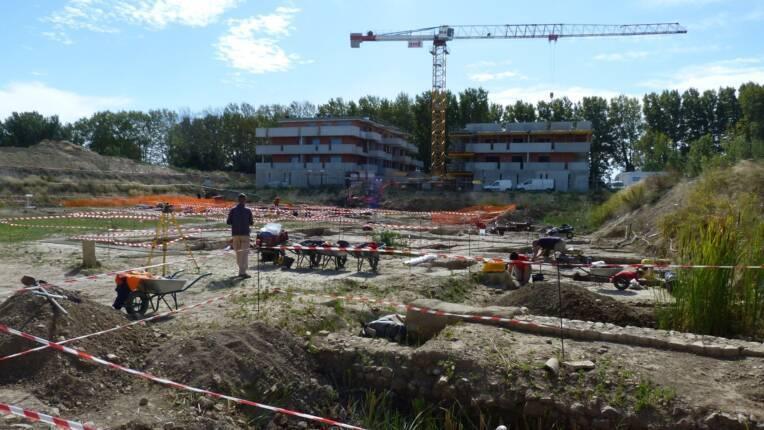 Visite du chantier de fouilles La Robine Narbonne