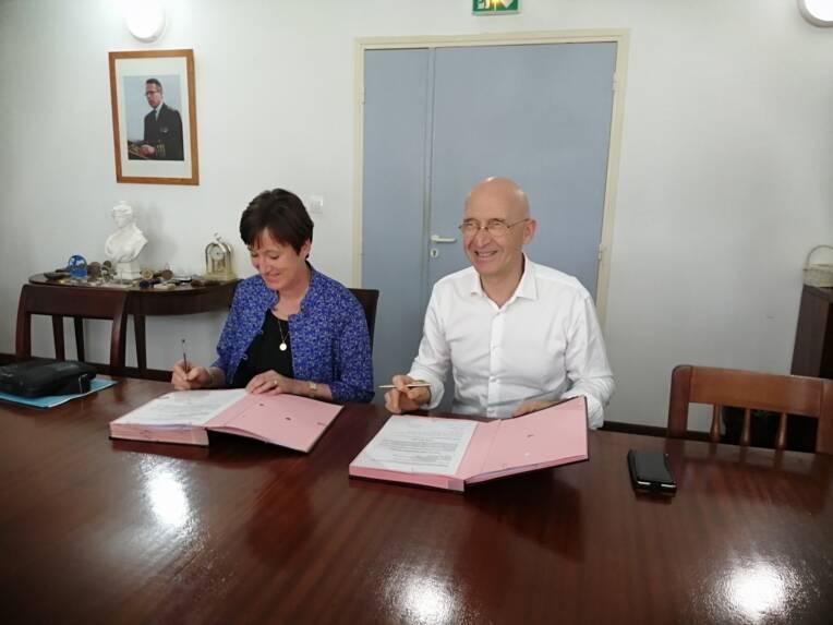 le préfet de Guadeloupe signe une convention avec la directrice générale du CNFPT