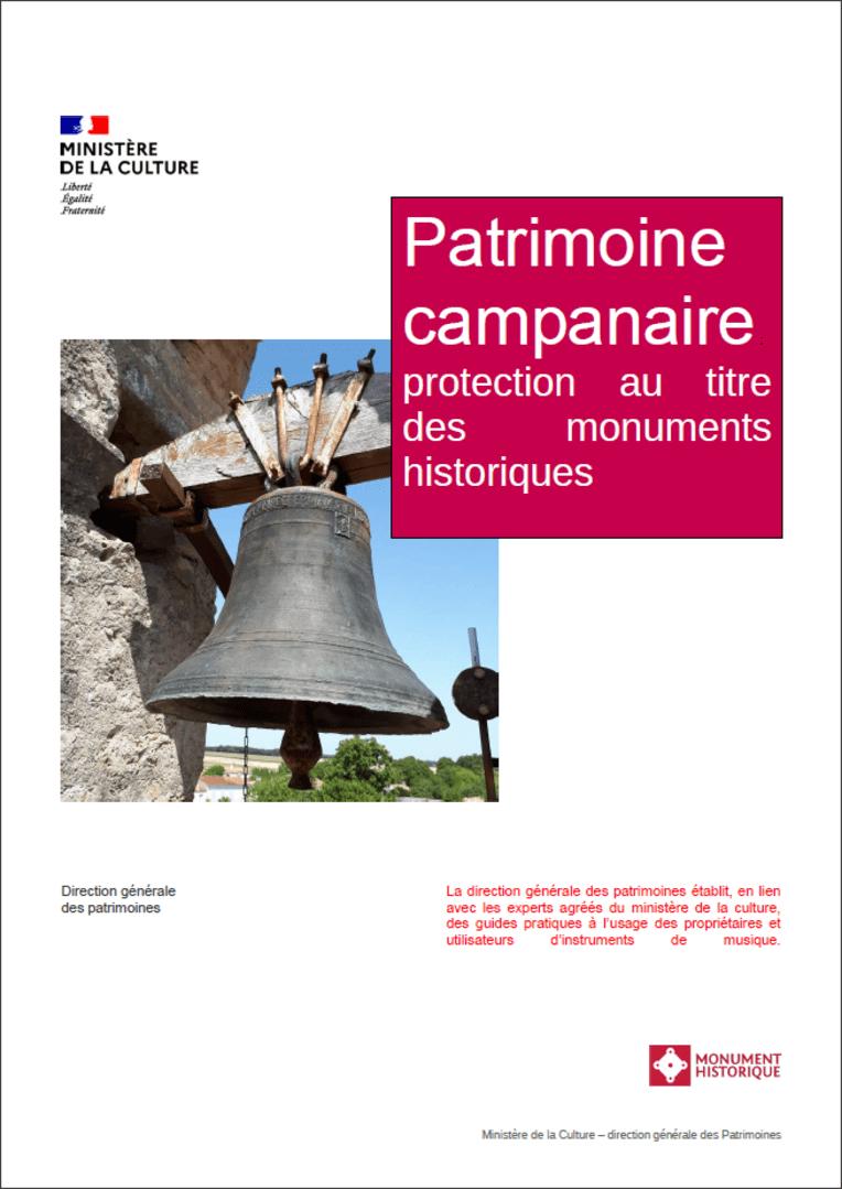 Patrimoine campanaire - Protection au titre des monuments historiques - Page de couverture