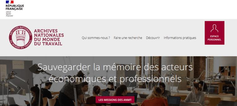 Un nouveau site internet pour les Archives nationales du monde du travail