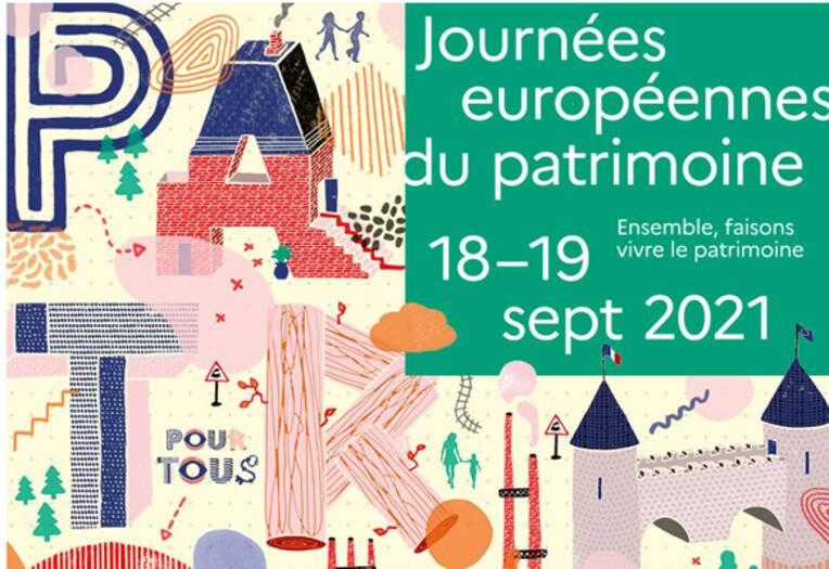 Programme des Journées européennes du patrimoine du 18 et 19 septembre 2021