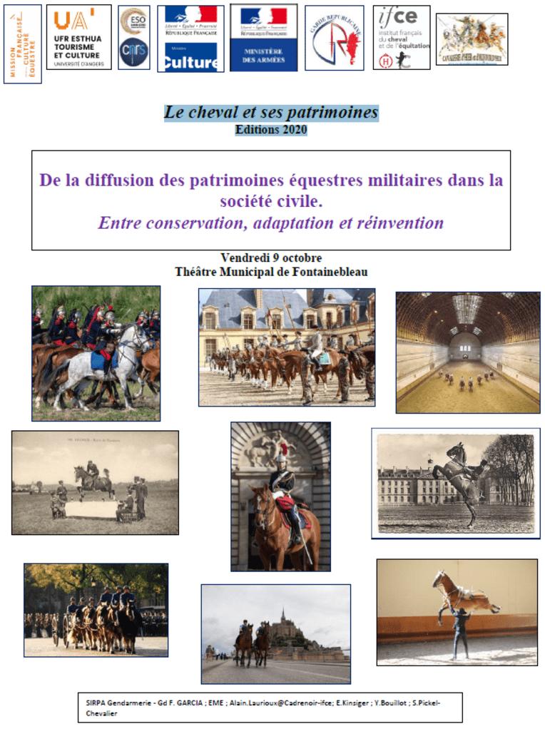 Journées cheval et patrimoine - éditions 2020 - Fontainebleau, 9 oct.