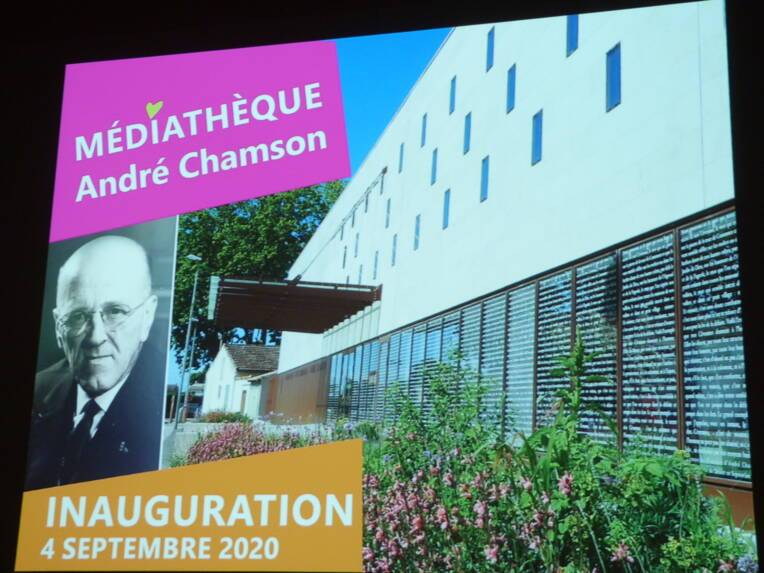 Inauguration de la médiathèque André Chamson, à Aigues-Mortes
