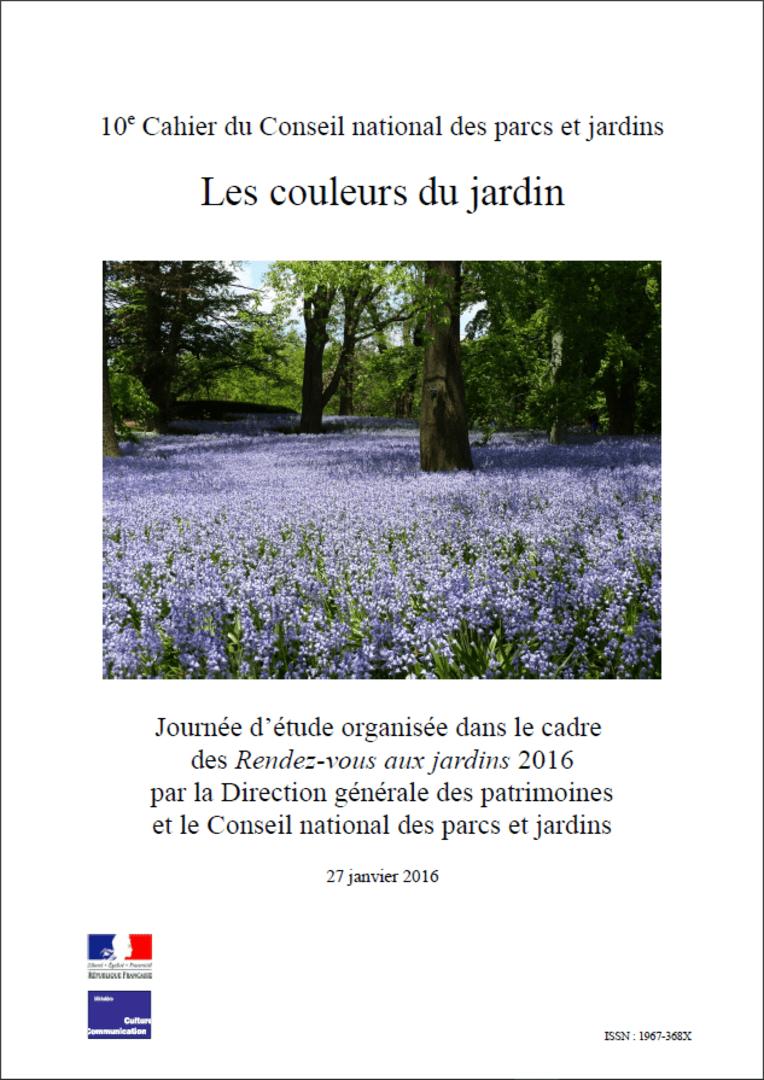 Actes RdvJardins 2016 - Les couleurs du jardin