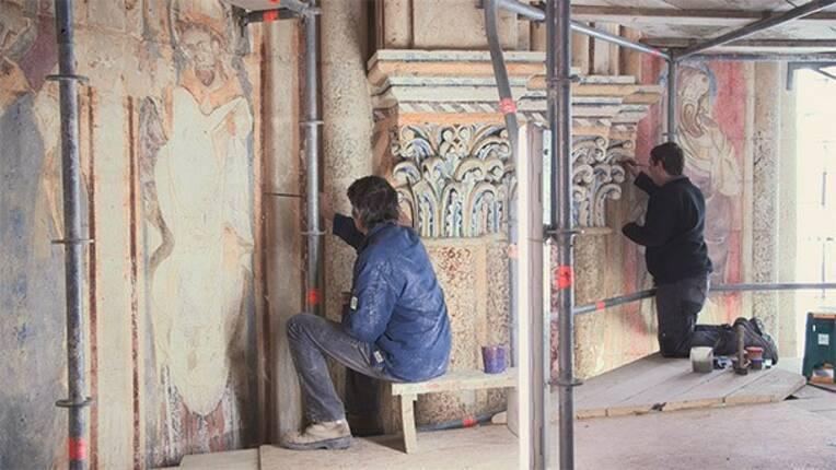 Histoire d'un dévoilement : Les peintures murales de la Cathédrale de Poitiers