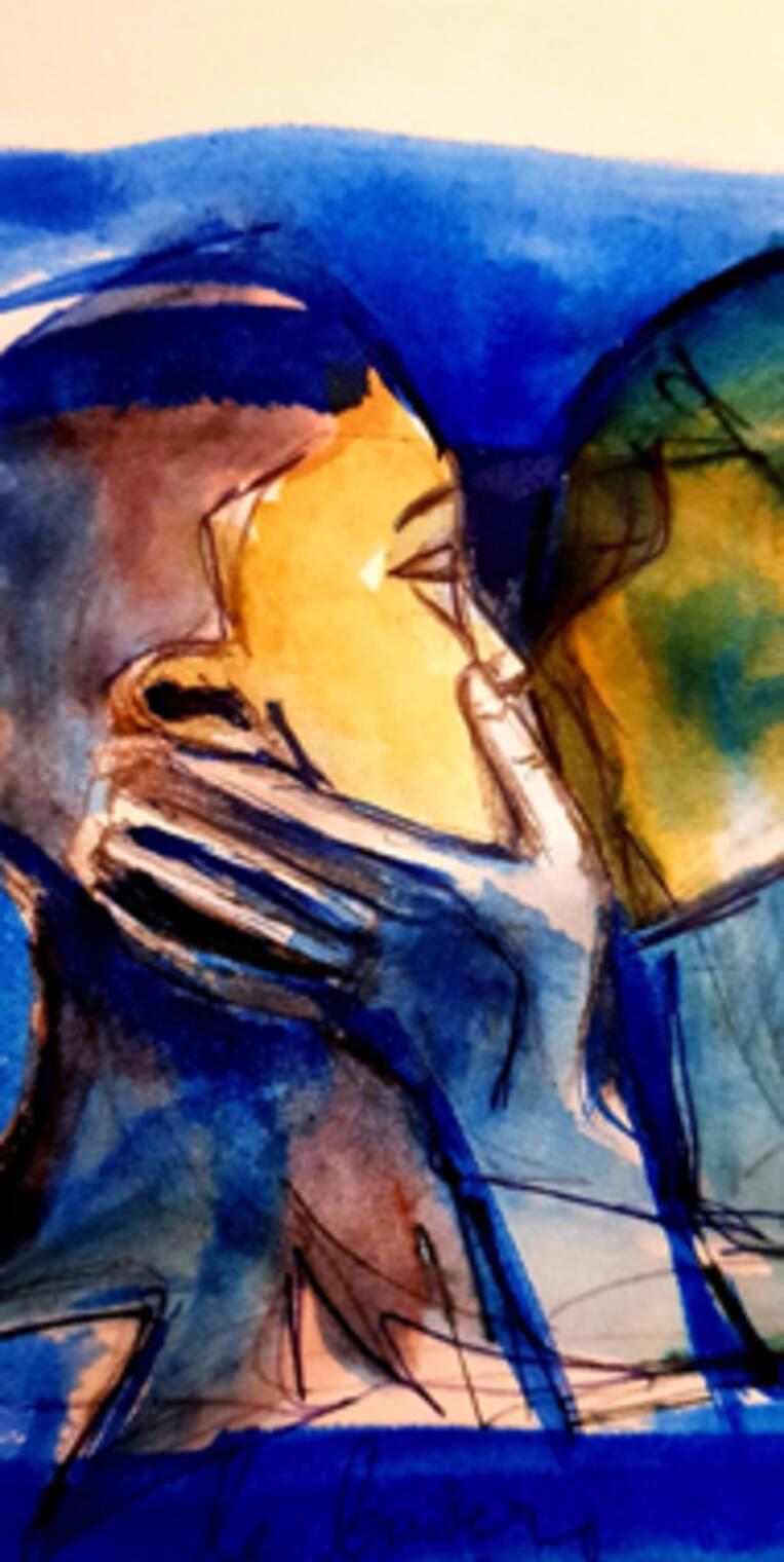 le baiser Juliette Piegon