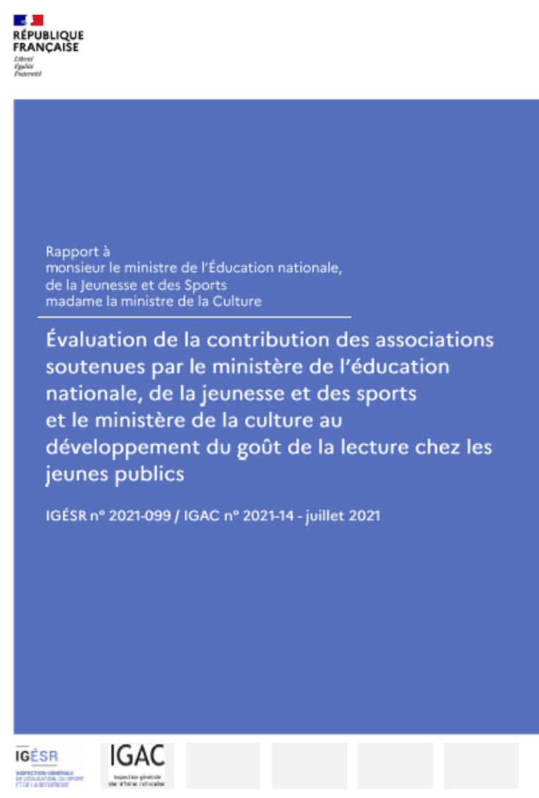Évaluation de la contribution des associations soutenues par le ministère de l'éducation nationale, de la jeunesse et des sports, et le ministère d...