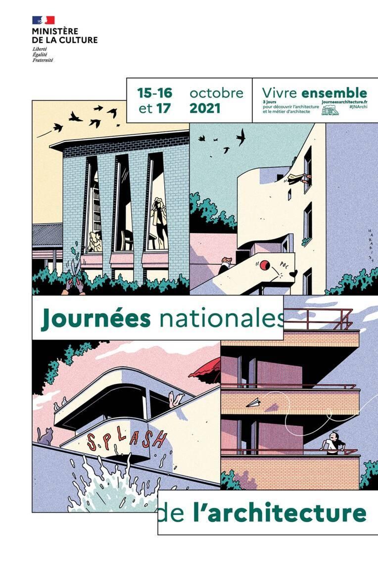 """6ème édition des Journées nationales de l'architecture sous le signe du """"Vivre ensemble"""" - du 15 au 17 octobre 2021"""