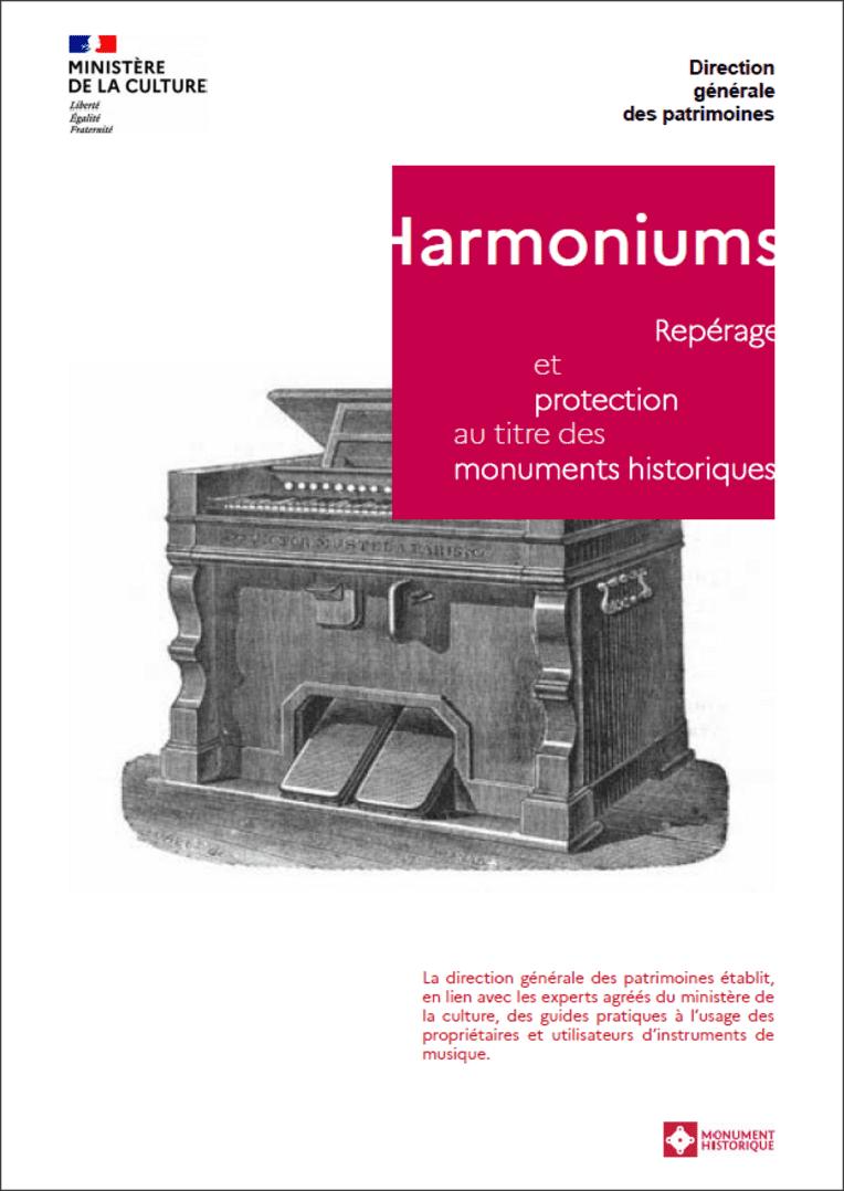 Harmoniums - Repérage et protection au titre des monuments historiques - Page de couverture
