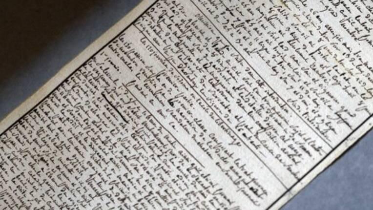Classement en tant que Trésors nationaux, d'un manuscrit du Marquis de Sade et d'un ensemble d'écrits d'André Breton