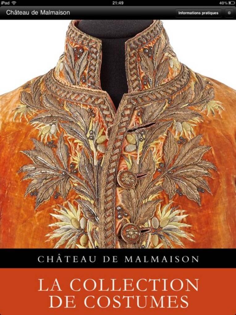Application sur la collection de costumes du Château de Malmaison