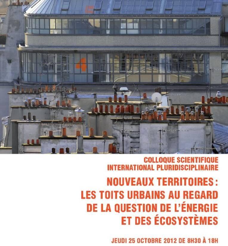 Colloque à l'ENSA Paris-Malaquais sur les toits urbains