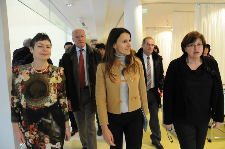 Déplacement d'Aurélie Filippetti, ministre de la Culture et de la Communication à Pau et à Oloron-Sainte-Marie