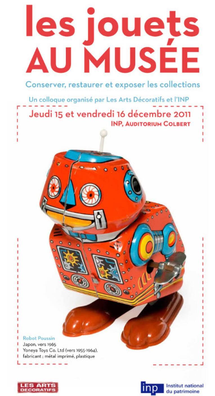 """Affiche du colloque """"les jouets au musée"""""""