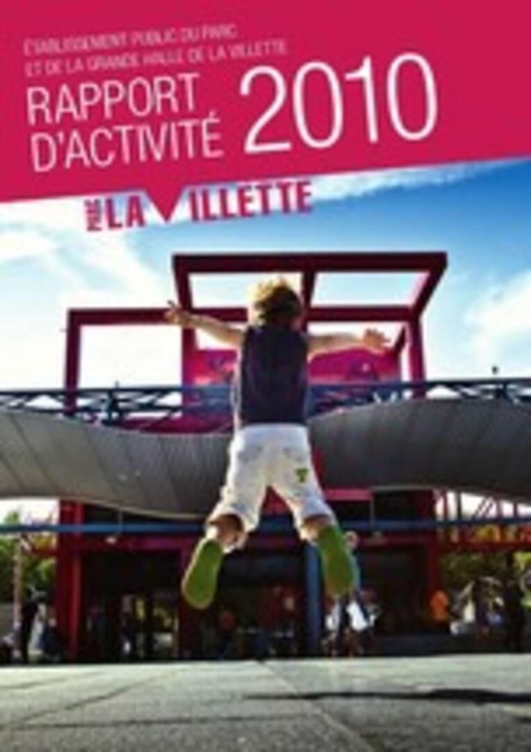 Couverture du rapport d'activité de l'Etablissement public du parc et de la grande halle de la Villette