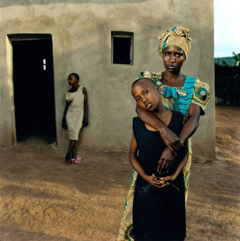 "Jonathan Torgovnik ""Valentine with her daugters Amelie and Inez, Rwanda"""