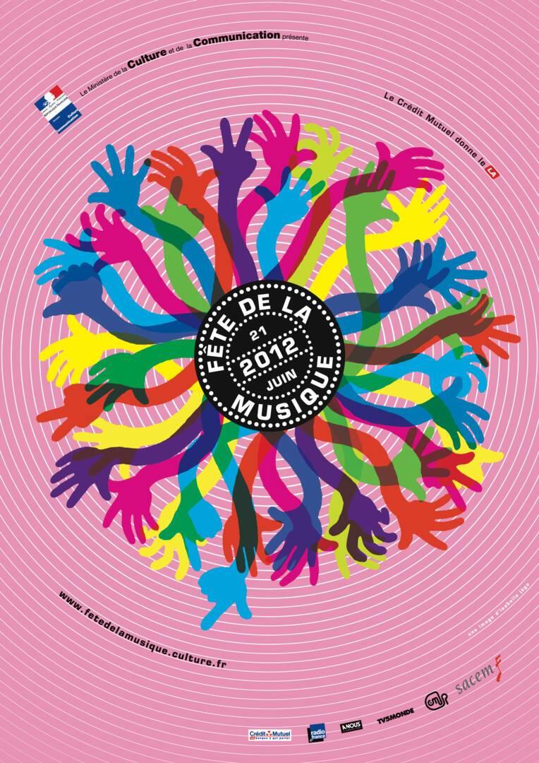 Affiche de la Fête de la musique 2012