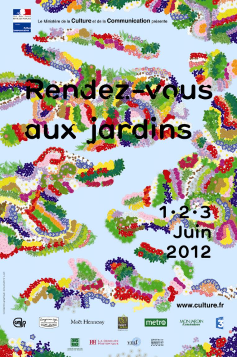 Affiche de Rendez-vous aux jardins 2012