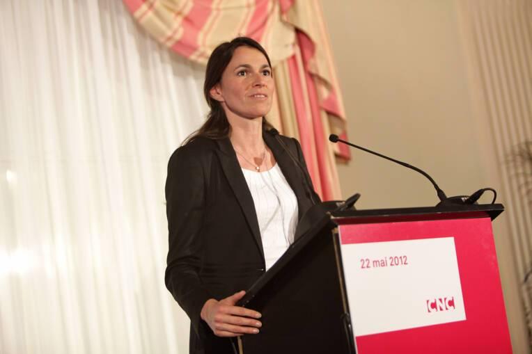 Aurélie Filippetti lors de la présentation du bilan 2011 du CNC