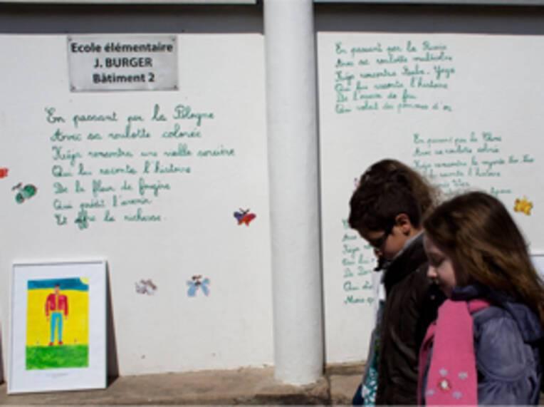 Visite d'Aurélie Filippetti au théâtre Jacques Brel à Talange (EAC)