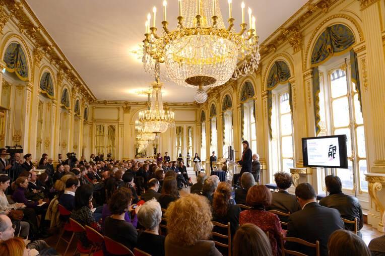 """Aurélie Filippetti présente le programme des """"Pléiades"""""""