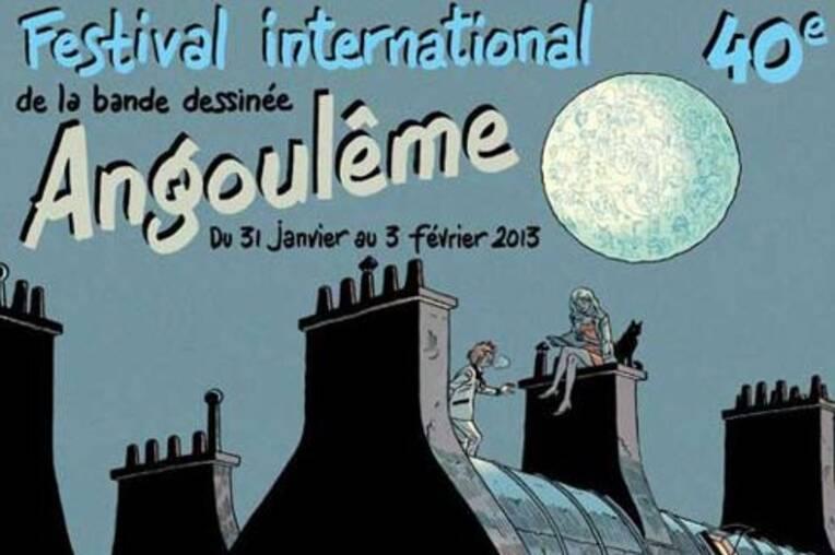 Affiche du 40e Festival BD Angoulême