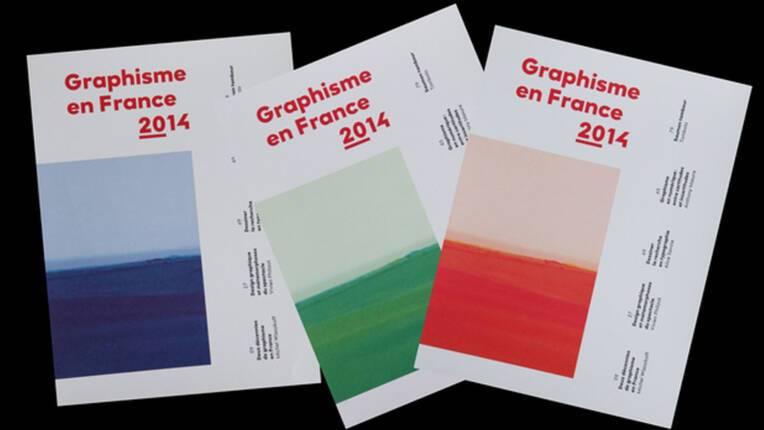 """Les trois couvertures du 20e numéro de """"Graphisme en France 2014"""""""