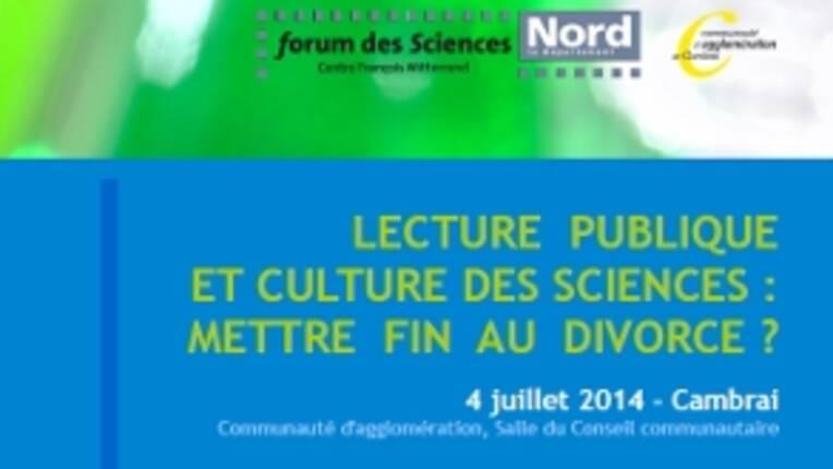 Culture scientifique - Cambrai, journée d'étude, 4 juillet 2014