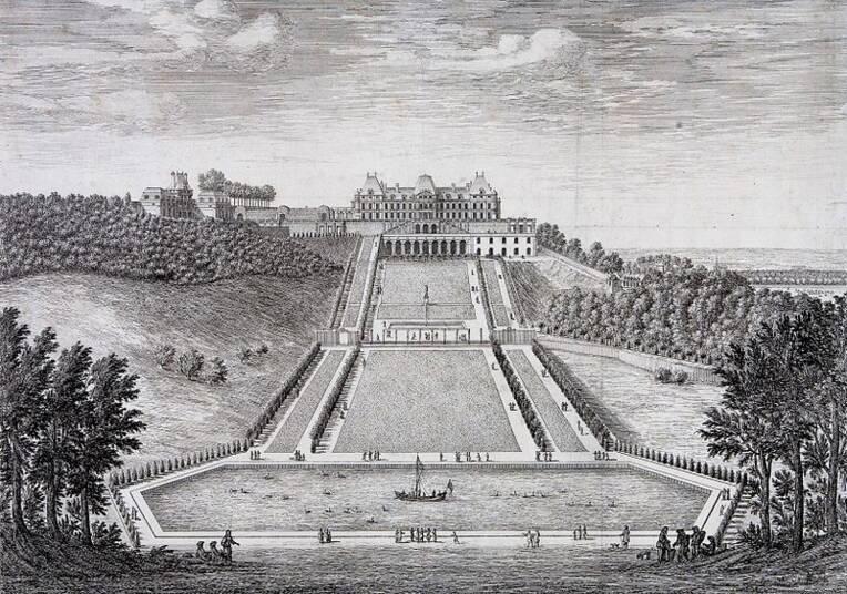 La grande terrasse de Meudon aménagée par André Le Nôtre, gravure d'Israël Silvestre