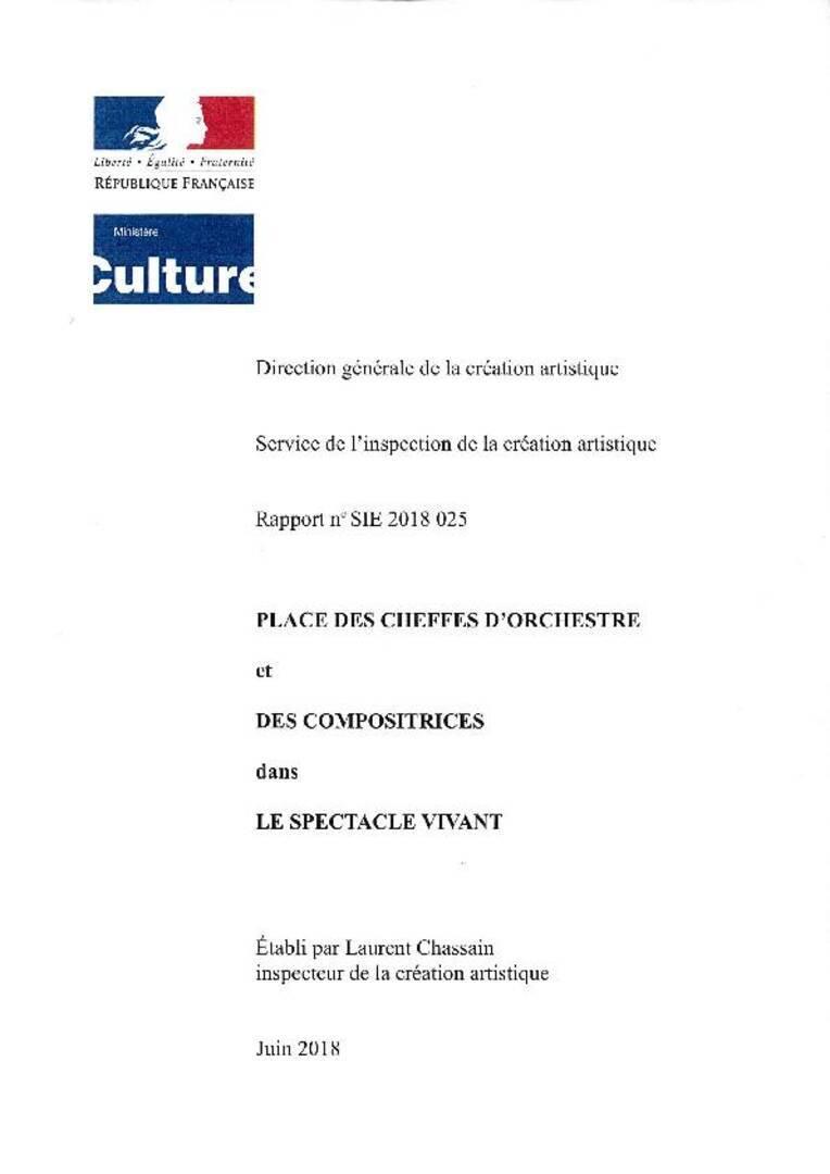 Couverture du rapport Cheffes d'orchestre