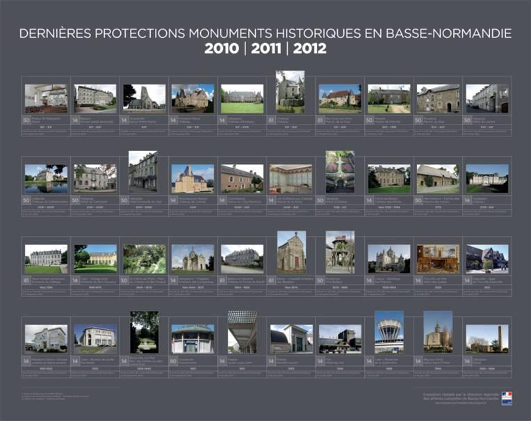 Les dernières protections au titre des monuments historiques en Basse-Normandie de 2010 à 2012