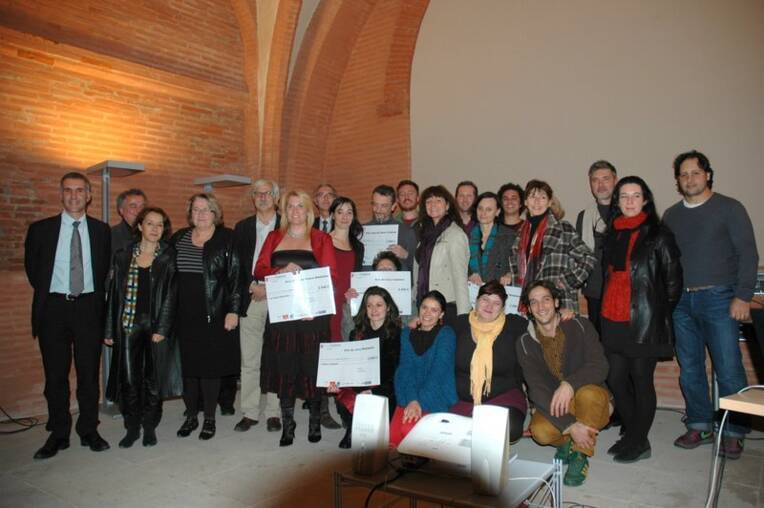 Les lauréats de la 3e édition et les membres du collectif Handiculture