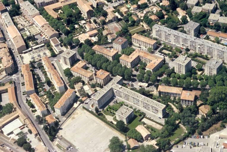 Les 200 logements - Aix-en-Provence, vue aérienne