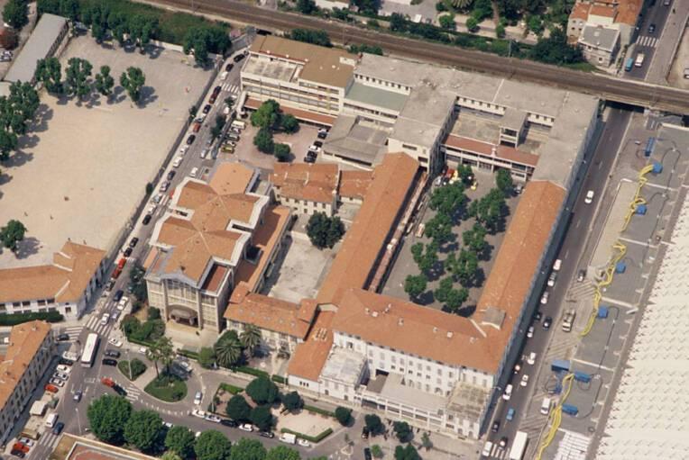 Eglise Notre-Dame-Auxiliaitrice - Nice, vue aérienne