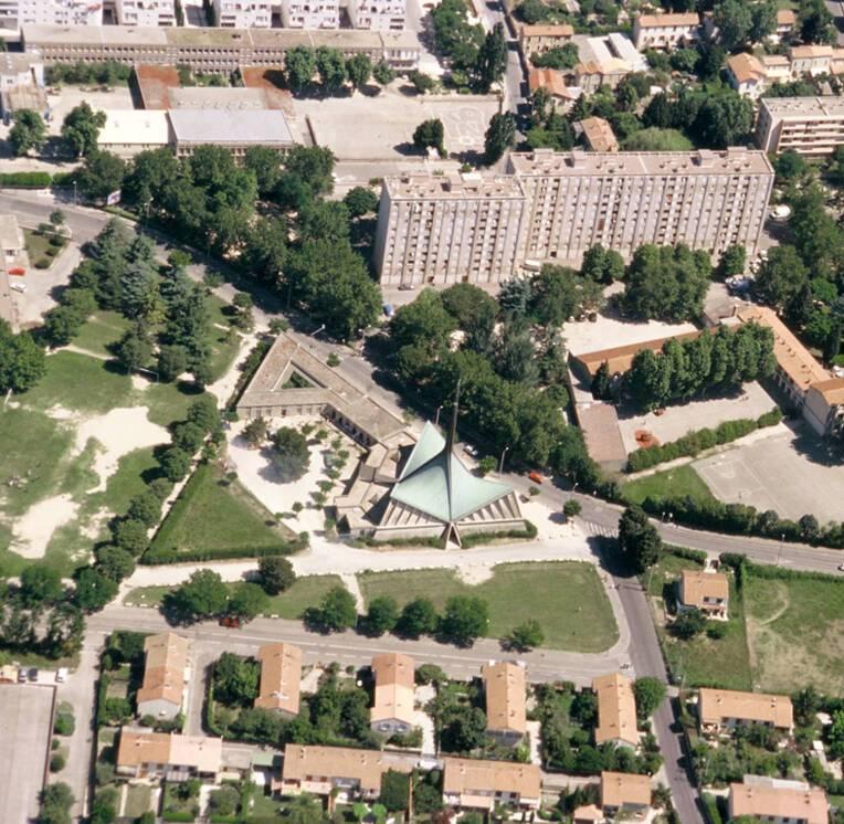 Saint-Joseph Travailleur - Avignon, vue aérienne