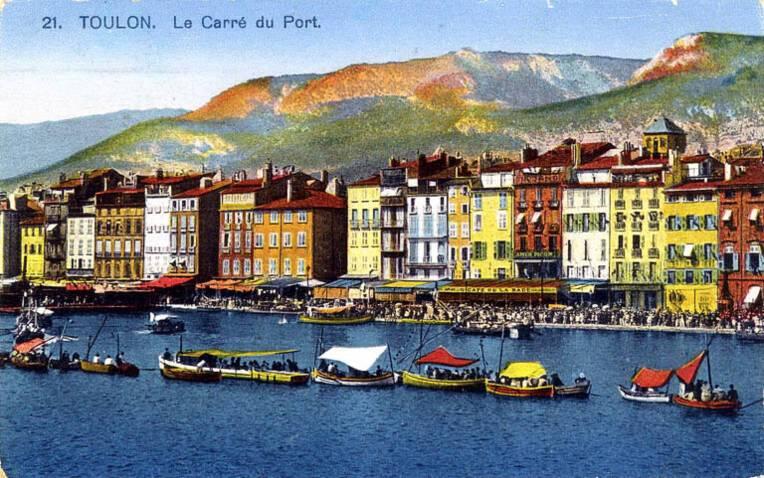 Carte postale. Ancien front de mer