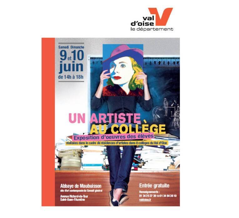 """""""Un artiste au collège"""", affiche de l'exposition"""