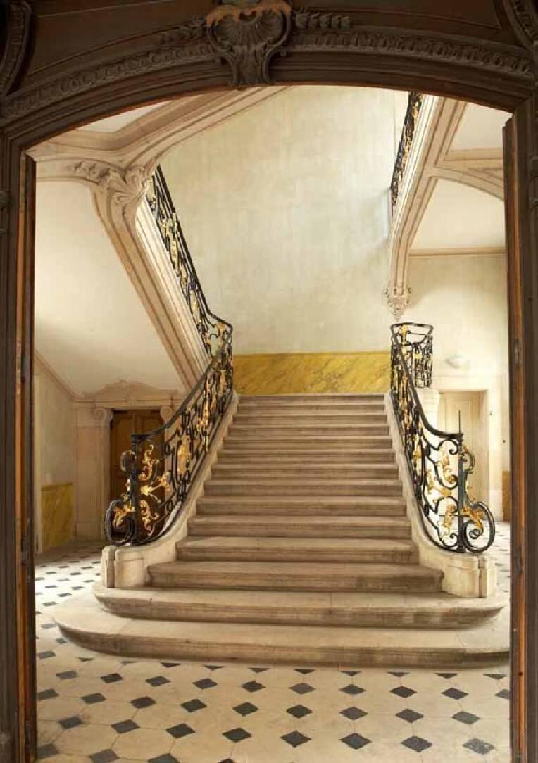Escalier de l'Hôtel Ferraris à Nancy