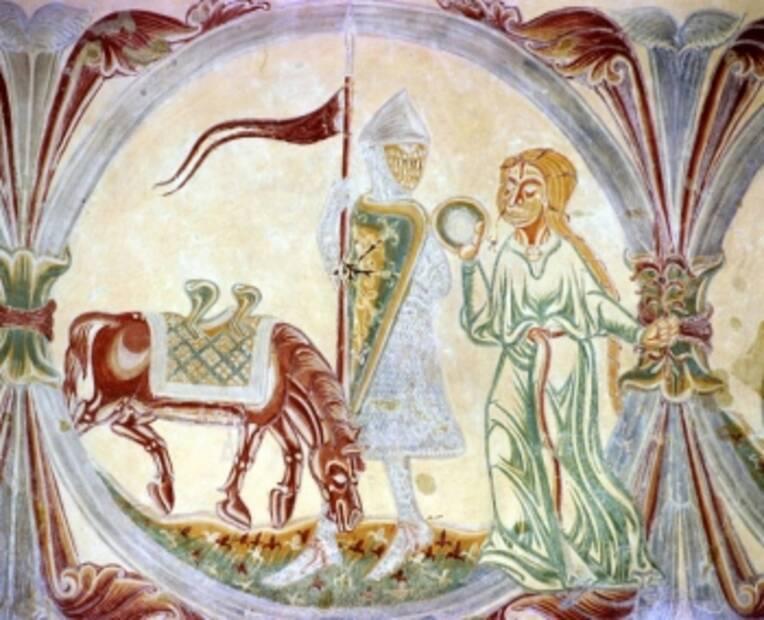 Pouzauges, église paroissiale de Vieux-Pouzauges, nef. Le Calendrier des mois, détail, le mois de mai