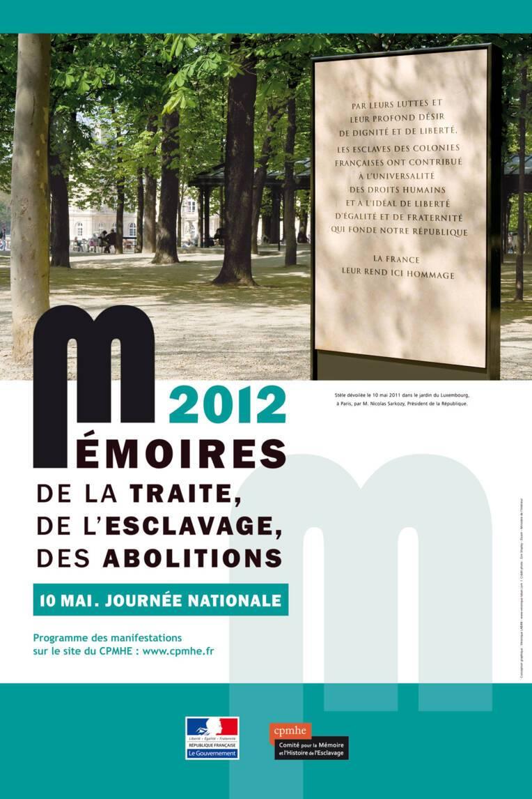 Journée nationale des mémoires de la traite, de l'esclavage, des abolitions. Paris, Jardin du Luxembourg, 10 mai 2012.