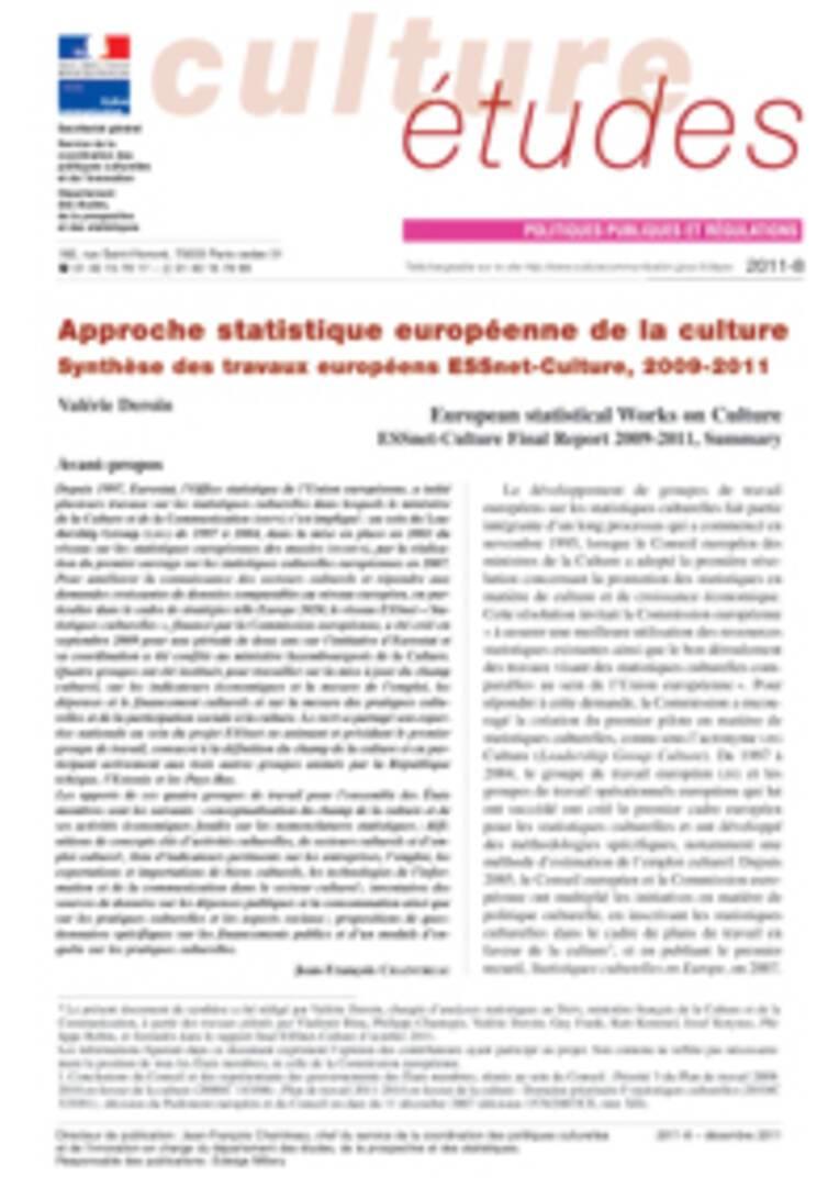 Approche statistique européenne de la culture